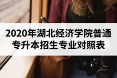 2020年湖北经济学院普通专升本招生专业报考范围