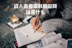 华中科技大学成人高考本科报名网址是什么