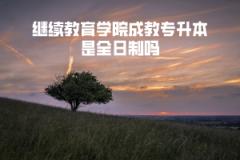 武汉工程大学继续教育学院成教专升本是全日制吗