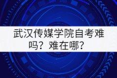 武汉传媒学院自考难吗?难在哪里?