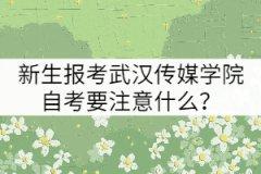 新生报考武汉传媒学院自考要注意什么?