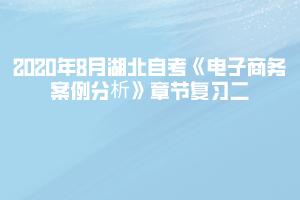 2020年8月湖北自考《电子商务案例分析》章节复习二