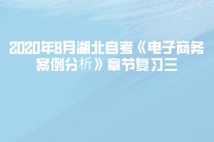 2020年8月湖北自考《电子商务案例分析》章节复习三