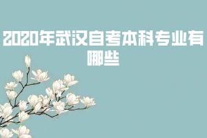 2020年武汉自考本科专业有哪些