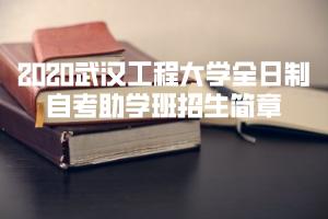 2020武汉工程大学全日制自考助学班招生简章