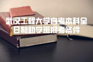 武汉工程大学自考本科全日制助学班报考条件