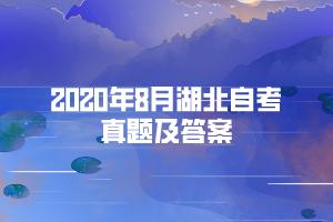 2020年8月湖北自考《外国文学作品选》部分真题及答案