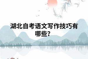 湖北自考语文写作技巧有哪些?