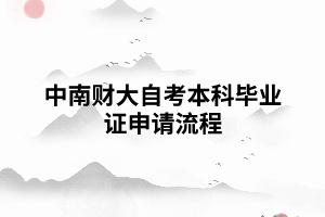 中南财大自考本科毕业证申请流程