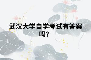 武汉大学自学考试有答案吗?