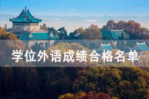 2021年中南财大学位外语成绩合格名单出来了吗?