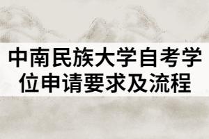 中南民族大学自考学位申请要求及流程