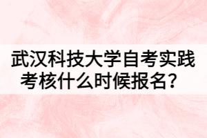 武汉科技大学自考实践考核什么时候报名?