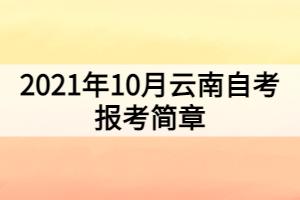 2021年10月云南自考报考简章