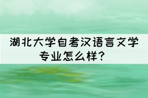 湖北大学自考汉语言文学专业怎么样?