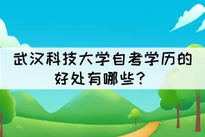 武汉科技大学自考学历的好处有哪些?
