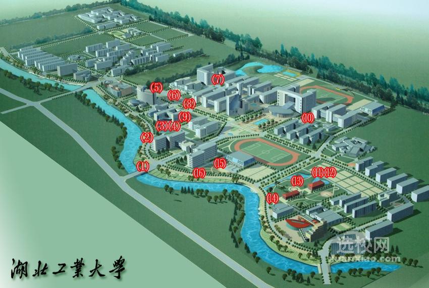 湖北工业大学校园地图