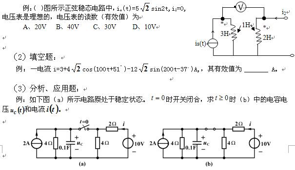 线性电路的复频域分析法;网络函数的定义