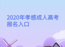 <b>2020年孝感成人高考报名入口</b>