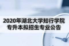 2020年湖北大学知行学院专升本拟招生专业公告