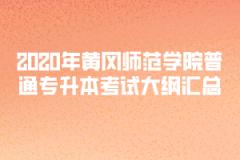2020年黄冈师范学院普通专升本考试大纲汇总