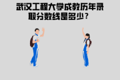 武汉工程大学成教历年录取分数线是多少?