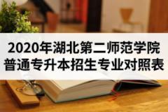 2020年湖北第二师范学院普通专升本招生专业报考范围