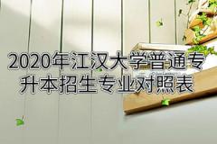 2020年江汉大学普通专升本招生专业报考范围