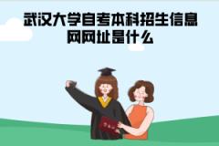 武汉大学自考本科招生信息网网址是什么