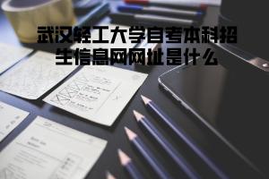 武汉轻工大学自考本科招生信息网网址是什么