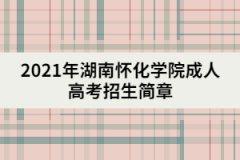 2021年湖南怀化学院成人高考招生简章