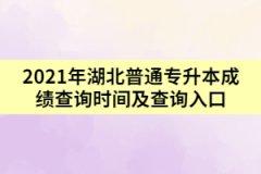 2021年湖北普通专升本成绩查询时间及查询入口
