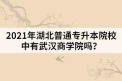 2021年湖北普通专升本院校中有武汉商学院吗?