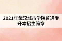 2021年武汉城市学院普通专升本招生简章