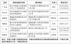 中南林业科技大学成人继续教育省外函授站联系一览表