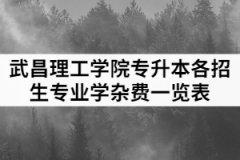 2021年武昌理工学院专升本各招生专业学杂费一览表