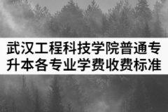 2021年武汉工程科技学院普通专升本各专业学费收费标准