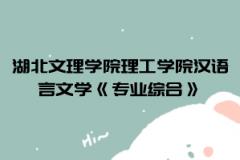 2021年湖北文理学院理工学院普通专升本汉语言文学《专业综合》考试大纲