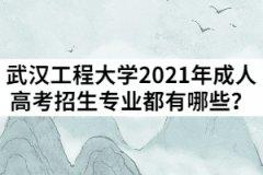 武汉工程大学2021年成人高考招生专业都有哪些?