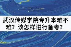 武汉传媒学院专升本难不难?该怎样进行备考?