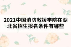 <b>2021中国消防救援学院在湖北省招生报名条件有哪些</b>
