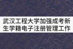 武汉工程大学关于加强成考新生学籍电子注册管理的工作办法