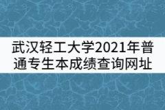 武汉轻工大学2021年普通专生本成绩查询网址