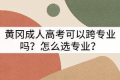 黄冈成人高考可以跨专业吗?怎么选专业?