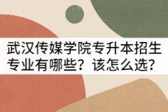 武汉传媒学院普通专升本招生专业有哪些?该怎么选?