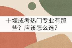 十堰成考热门专业有那些?应该怎么选?