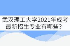 武汉理工大学2021年成考最新招生专业有哪些?