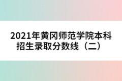 <b>2021年黄冈师范学院本科招生录取分数线(二) </b>