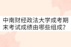 中南财经政法大学成考期末考试成绩由哪些组成?