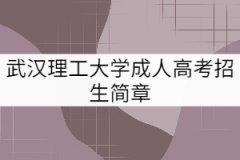 武汉理工大学成教招生简章